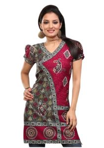 Women Indian Short Kurti Tunic Top Dress EVENT43B