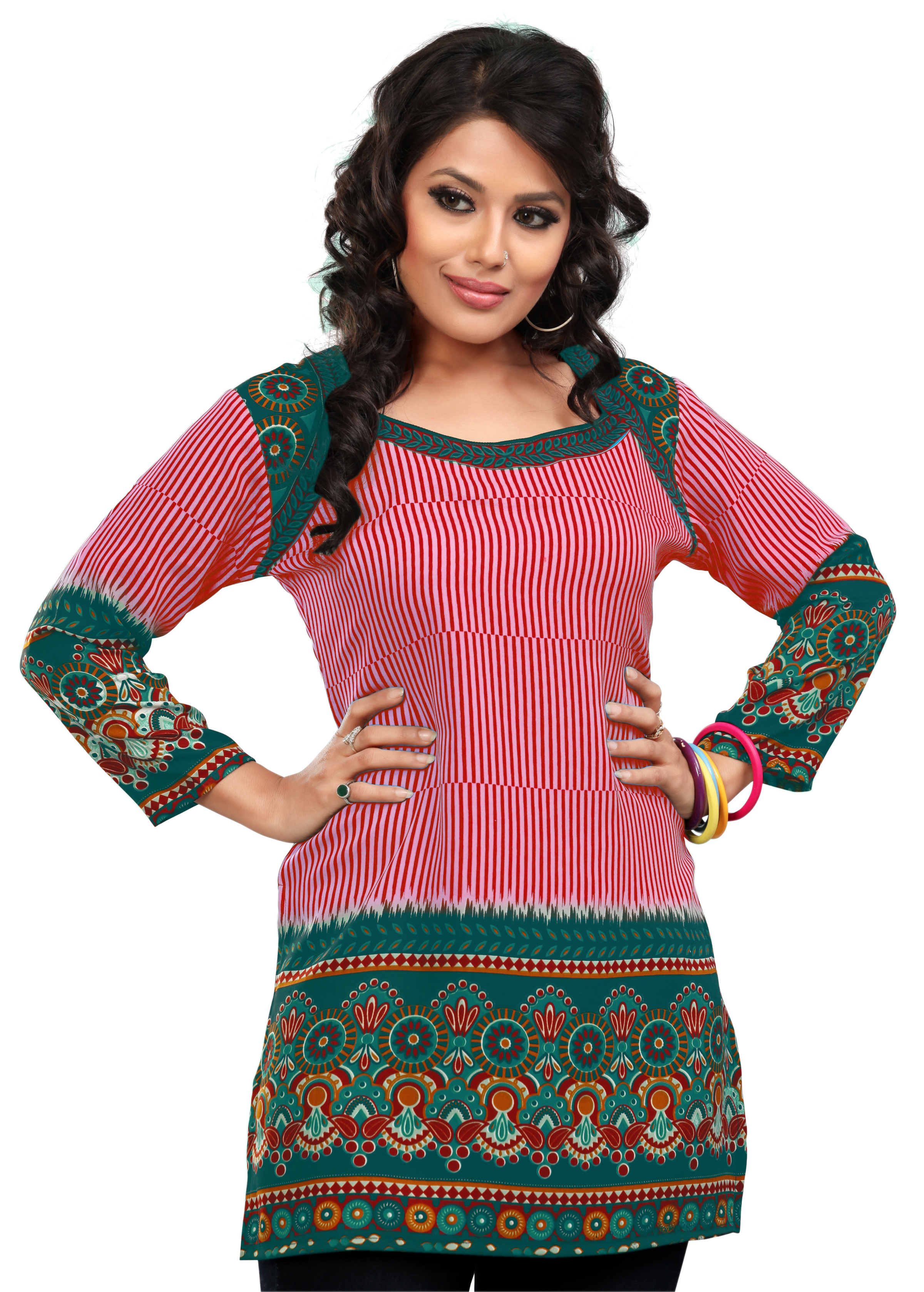 Women Indian Short Kurti Tunic Top Dress EVENT55B