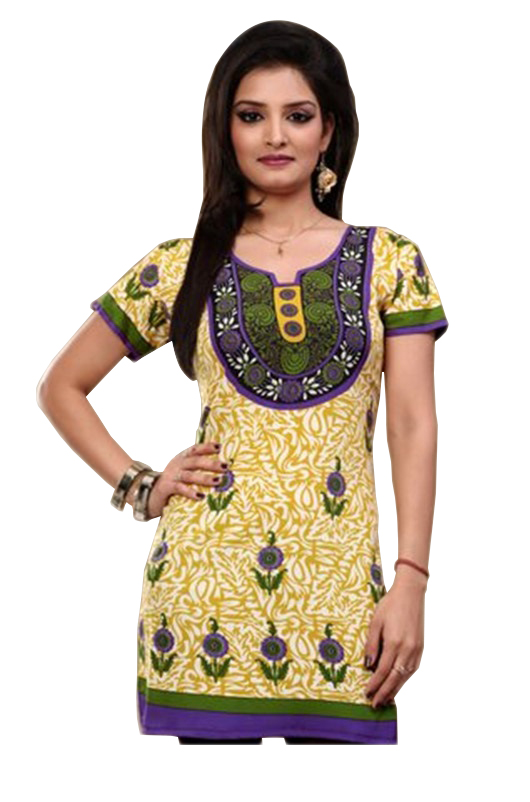 Women Indian Short Kurti Tunic Dress EVENT57D